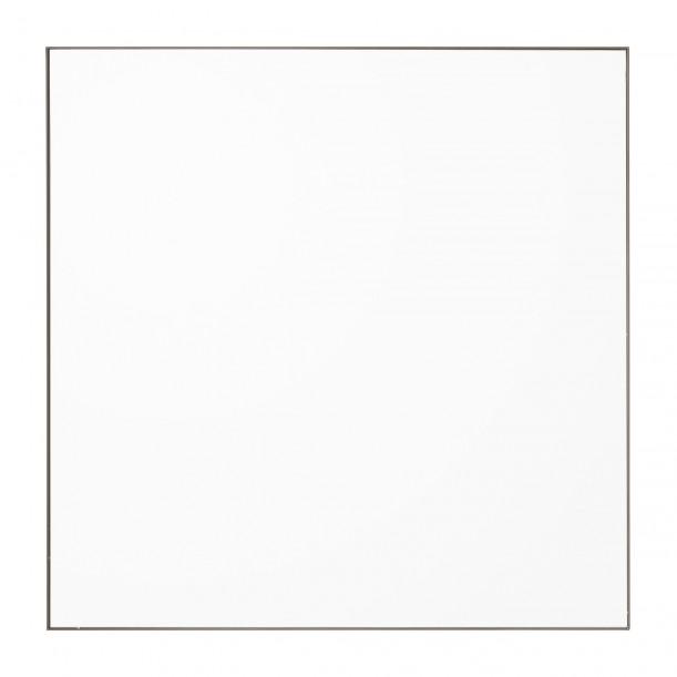 Miroir Mural Quadro Clear et Bord Gris Taupe Carré 90 X 90 cm AYTM