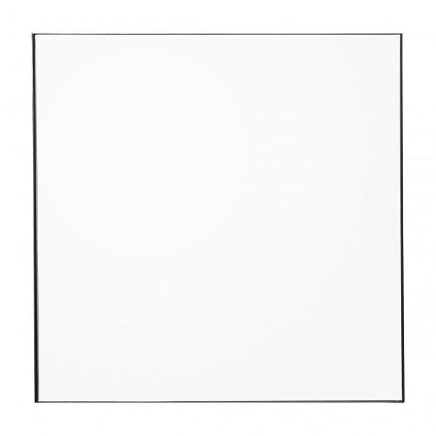 Quadro Mirror Clear and Black Frame Square 90 X 90 cm AYTM
