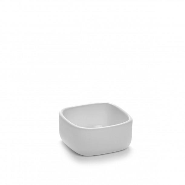Square Bowl HEII white porcelain 6 x 6 x H3 cm Serax