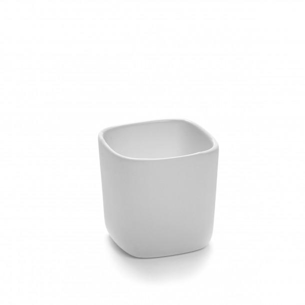 Square Bowl HEII white porcelain 6 x 6 x H6 cm Serax