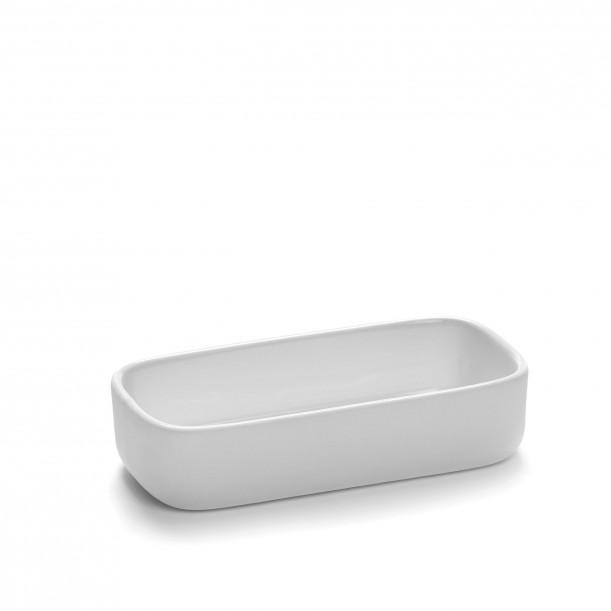 Square Bowl HEII white porcelain 12 x 6 x H3 cm Serax