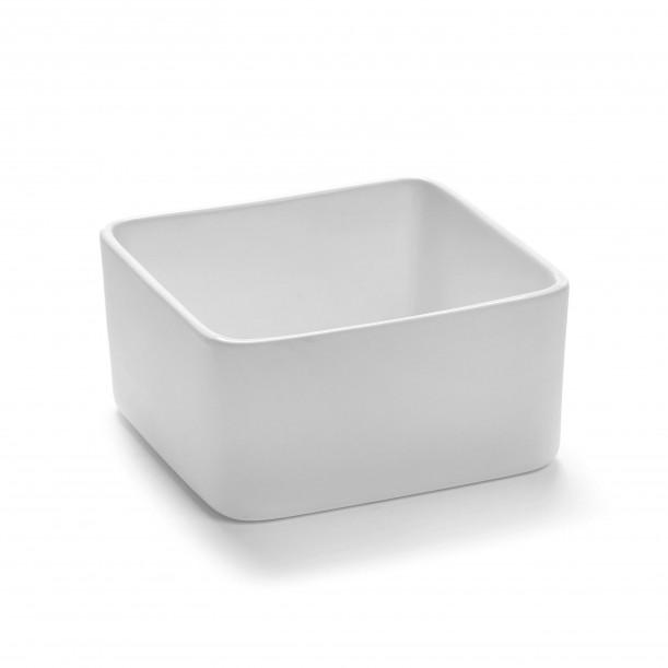 Square Bowl HEII white porcelain 12 x 12 x H6 cm Serax