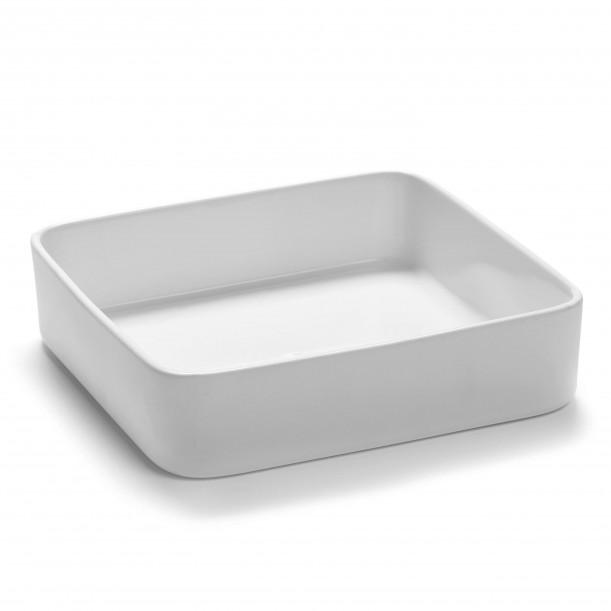 Square Bowl HEII white porcelain 18 x 18 x H6 cm Serax