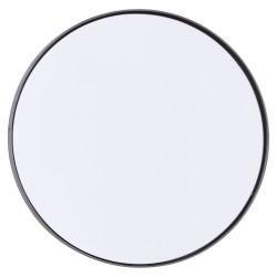 Miroir Rond Reflection Bord Noir Patiné Large Diam 40 cm House Doctor