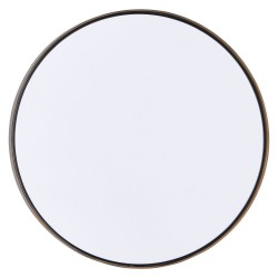 Round Mirror with Brass Edge Reflection Large diam 40 cm House Doctor