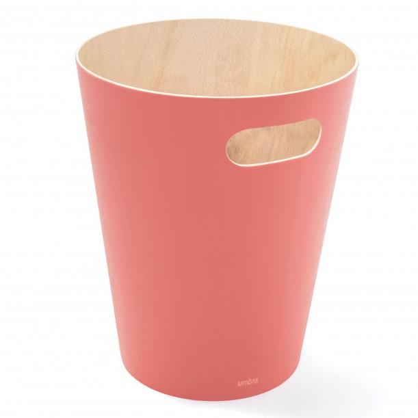 Waste Can Woodrow Coral Wood Diam 23 X H 28 cm 7,5 L Umbra