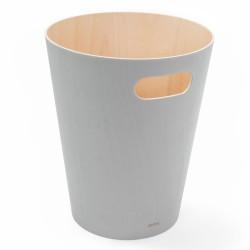 Waste Can Woodrow Grey Wood Diam 23 X H 28 cm 7,5 L Umbra