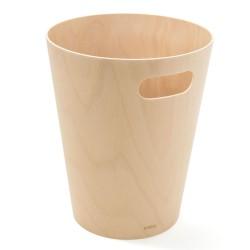 Corbeille à papier Woodrow Naturelle en Bois Diam 23 X H 28 cm 7,5 L Umbra