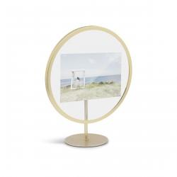 Infinity Frame Brass Round for 10 x 15 cm Photo Umbra