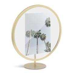 Infinity Frame Brass Round for 13 x 18 cm Photo Umbra