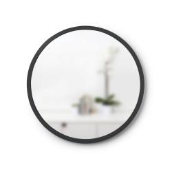 Miroir HUB Small Rond Bord Caoutchouc Noir Diam 45 cm Umbra