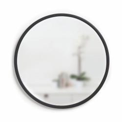 Miroir HUB Medium Rond Bord Caoutchouc Noir Diam 61 cm Umbra