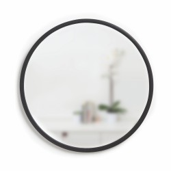 Mirror HUB Round Black Rubber Frame Medium Diam 61 cm Umbra