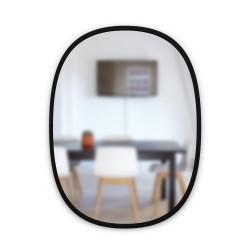 Miroir HUB Medium Ovale Bord Caoutchouc Noir 45 X 61 cm Umbra