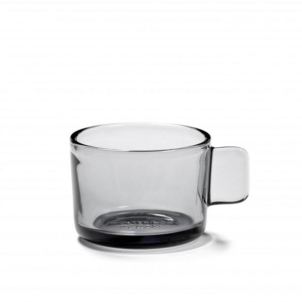 Expresso Cup HEII Smoky Grey Glass Diam 6,5 cm Serax