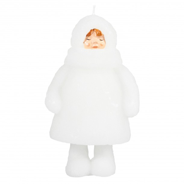 Candle Snow Doll Closed Eyes & klevering