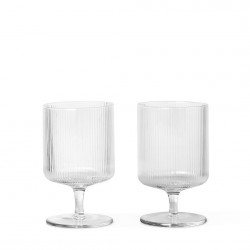 Verre Ripple à Pied Clear Diam 7 cm Lot de 2 Ferm Living