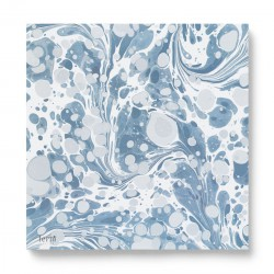 Marbling Paper Napkins Dusty Blue Ferm Living