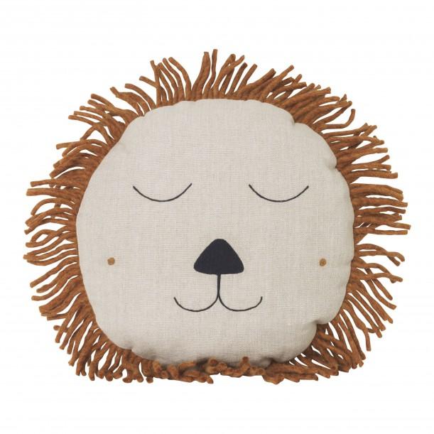 Safari Cushion Lion Natural Ferm Living