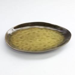 Assiette Ovale Pure Céramique Verte L 28 x 24 cm Serax