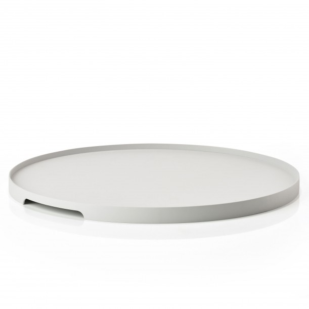 Tray Single Round Warm Grey Metal Diam 35 cm Zone Denmark