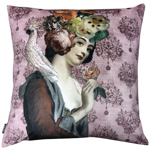 Velvet Cushion Rosalil 50 x 50 cm Vanilla Fly