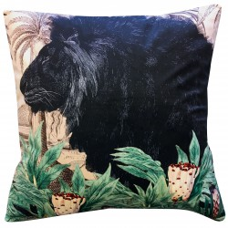 Velvet Cushion Little Lion 50 x 50 cm Vanilla Fly