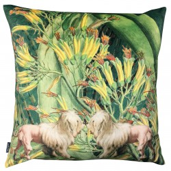 Coussin Velours Lion Dogs 50 x 50 cm Vanilla Fly