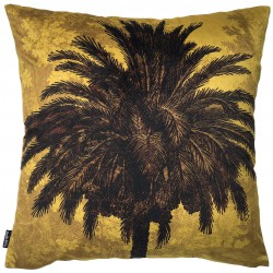 Coussin Velours Mustard Palm 50 x 50 cm Vanilla Fly