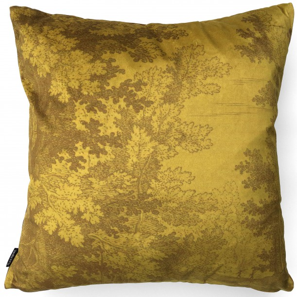 Velvet Cushion Mustard Woods 50 x 50 cm Vanilla Fly