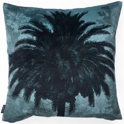 Velvet Cushion Blue Palm 50 x 50 cm Vanilla Fly