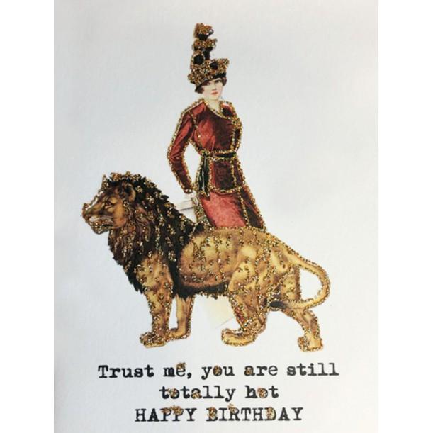 Greeting Card Trust Me 9 x 13 cm Vanilla Fly
