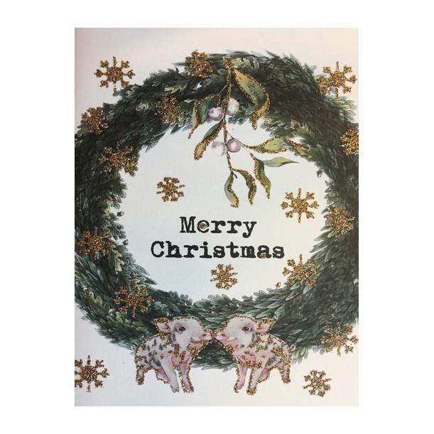 Carte Merry Christmas Crown 9 x 13 cm Vanilla Fly