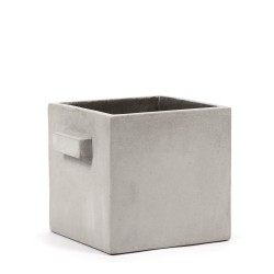 Cubic Concrete Pot Marie Light Grey 22 x 22 x 22 cm Serax