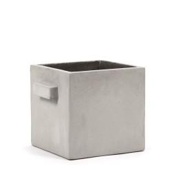 Pot Béton Cubique Marie Gris Clair 22 x 22 x 22 cm Serax
