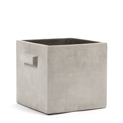 Cubic Concrete Pot Marie Light Grey 26 x 26 x 26 cm Serax