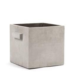 Pot Béton Cubique Marie Gris Clair 26 x 26 x 26 cm Serax