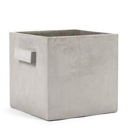 Pot Béton Cubique Marie Gris Clair 33 x 33 x 31 cm Serax