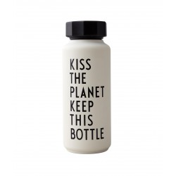 Bouteille Thermos Blanche Kiss 0,5 Litre Design Letters