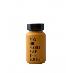 Bouteille Thermos Moutarde Kiss The Planet 0,33 Litre Design Letters