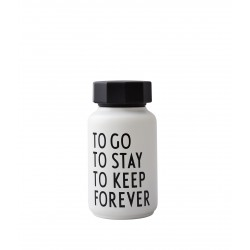 Thermos Bottle White To Go 0,33 Liter Design Letters