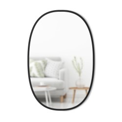 Mirror HUB Oval Black Rubber Frame Large 61 X 91 cm Umbra