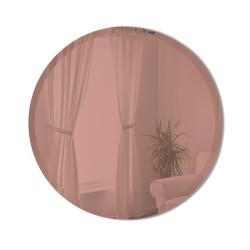 Miroir BEVY Medium Rond Bord Biseauté Teinté Rose Diamètre 61 cm Umbra