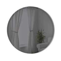 BEVY Round Mirror Medium Beveled Edge Tinted Smoke Diameter 61 cm Umbra