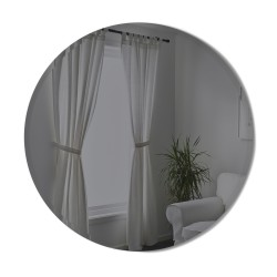 BEVY Round Mirror Large Beveled Edge Smoke Tinted Diameter 91 cm Umbra