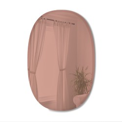 BEVY Ovale Mirror Large Beveled Edge Tinted Pink 91 x 61 cm Umbra