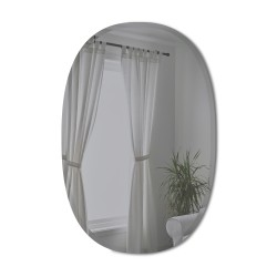 BEVY Ovale Mirror Large Beveled Edge Smoke Tinted 91 x 61 cm Umbra