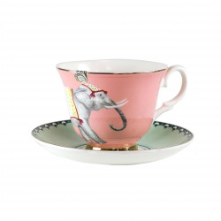Teacup and Saucer Elephant Yvonne Ellen