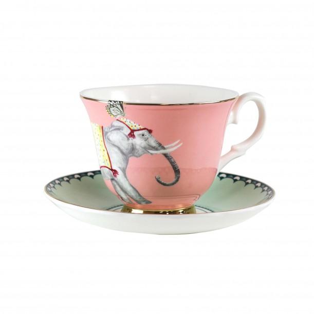 Teacup and Saucer Elephant Yvonne Ellen