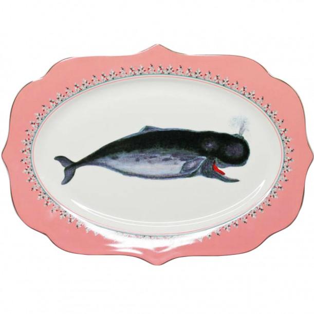 Whale Platter 36cm x 25cm Yvonne Ellen